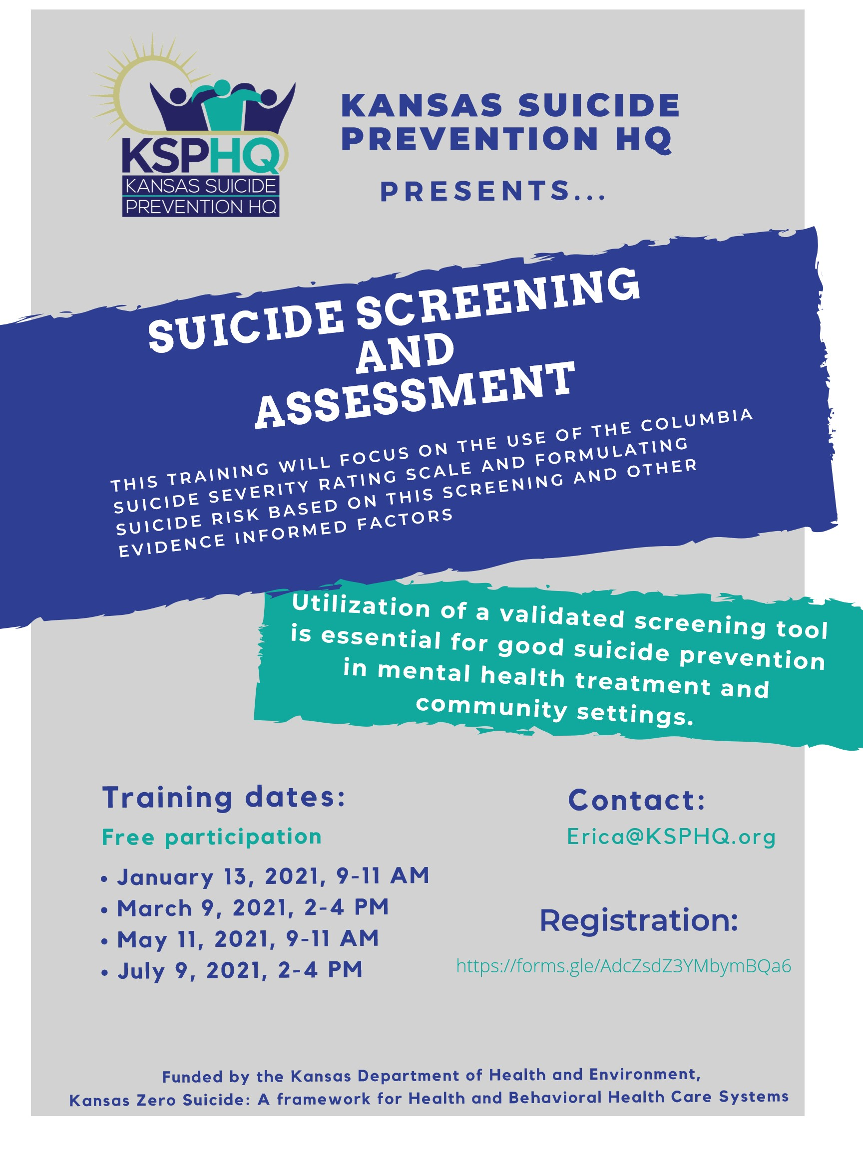 Kansas Suicide Prevention HQ Presents- Screening and Assessment